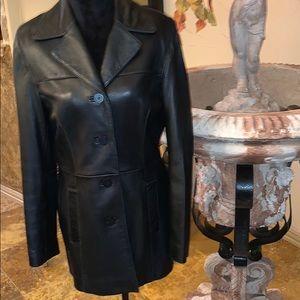 Nine West Leather Coat